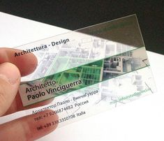 clear plastic business cards Architetto Vinciguerra P. - Mosca