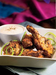 Grilled Herbed Chicken Drumettes With White Barbecue Sauce