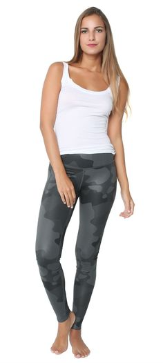 Airbrush Legging Camo Black