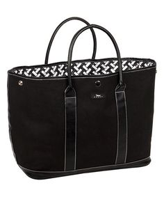 Another great find on #zulily! Black Miss Manors Tote #zulilyfinds