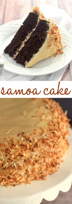 This Samoa Cake is the perfect combination of chocolate, caramel, and coconut. Moist, delicious, and perfectly rich