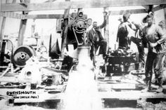 Water well in Owensmouth, circa 1915. In 1910, the developers of Owensmouth installed a water pump powered with a gas engine to their main well. Though they claimed this local well pumped enough water for a population of 10,000, this was never tested. In 1915, the most of the towns in the San Fernando Valley voted favorably for annexation to Los Angeles which opened up the water from the Owens River Aqueduct to them. San Fernando Valley History Digital Library.