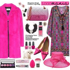 How To Wear Pink Paisley and Fur! Outfit Idea 2017 - Fashion Trends Ready To Wear For Plus Size, Curvy Women Over 20, 30, 40, 50