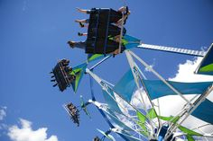 Western South Dakota residents take flight on the rides at the Central States…