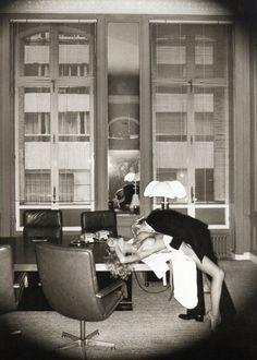 Office Love, Paris, 1976, by Helmut Newton