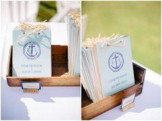 Naval themed wedding programs | Image Sophie Delaveau Photography