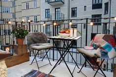 Nice simple apartment balcony