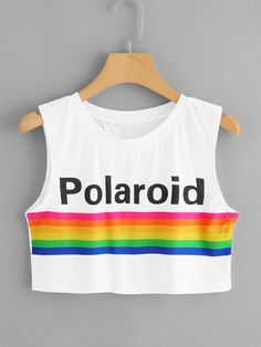 Cute Polaroid Crop Top ★ Street Style Chic Fashion Outfits Summer Women's Trendy Outfits For Teens, Teen Fashion Outfits, Girl Fashion, Fashion Design, Ladies Fashion, Fashion Ideas, Fashion Trends, Fashion Images, Fashion Clothes