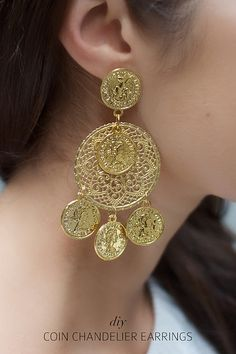 Make dolce and gabbana inspired earrings www.apairandasparediy.com by apairandaspare, via Flickr