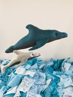 Kid Giddy Casco the Dolphin  Sewing Pattern by Kerry Goulder from book Sewing Tales to Stitch and Love: 18 toy patterns for the storytelling sewist. SewMamaSew guest post