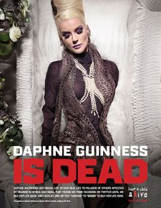 Daphne Guinness Photo - Celebrities Pose In Coffins And Go Off Line in 'Digital Death' For World AIDS Day