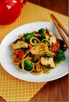 Healthy Chicken Lo Mein
