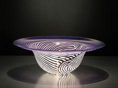 Decorative hand blown Amethyst Art Glass Bowl by KatzGlassDesign #glass #bowl #handblown