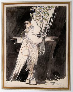 1910 Hamlet costume design by Edward Gordon Craig.