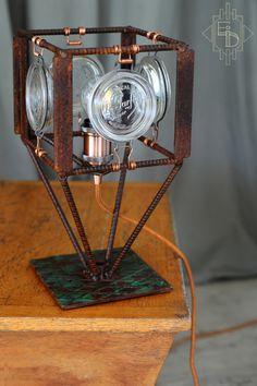 Lampe Création Pièce unique Artisanat Français http://etrangeidee.fr/