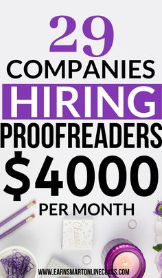 FREE TRANING Online proofreading jobs are in high demand these days but do you know how to find them? Well here are 30 online proofreading jobs that are perfect even for beginners. This can be a great way for you to earn extra income on the side. Earn Money From Home, Make Money Fast, Earn Money Online, Online Earning, Start A Business From Home, Work From Home Tips, Legit Work From Home, Online Business, Legitimate Work From Home