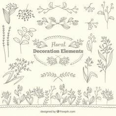 Floral collection d'éléments du décor