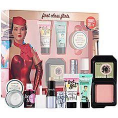 This six-piece set hydrates, primes, and perks up the complexion. I'm hooked. #Sephora #benefit #firstclassflirts