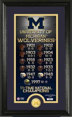 "AAA Sports Memorabilia LLC - University of Michigan ""Legacy"" Bronze Coin Panoramic Photo Mint, $59.99 (http://www.aaasportsmemorabilia.com/products.php?product=University-of-Michigan-""Legacy""-Bronze-Coin-Panoramic-Photo-Mint/)"