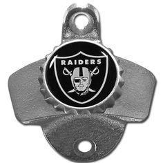 Siskiyou NFL Oakland Raiders Wall-mounted Bottle Opener