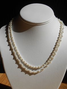 multi strand pearl necklace by LoveHAIGHTDesigns on Etsy, $17.00