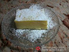 Γαλατόπιτα χωρίς φύλλο #sintagespareas Greek Desserts, Greek Recipes, My Favorite Food, Favorite Recipes, Custard Cake, Good Food, Yummy Food, Group Meals, Food Design