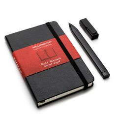 Moleskine notebook & moleskin pen