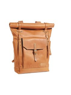 Cognac leather backpack. Light brown leather by InnesBags on Etsy