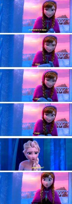 Sandwiches? Wrong song, Elsa... Lol