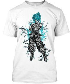 Super Saiyan Goku God Blue Short Sleeve Shirt - TS00207SS