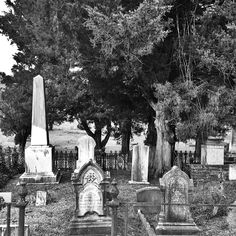 Cemetery- B&W Scene in Natchez, Mississippi. photo: J E Breshears. http://www.thefuneralsource.org/cemms.html