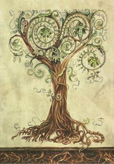 Tree tattoo - love this design; detail, realness, but artistic and whimsical at the same time... add the right kind of flowers to make it sweet/romantic) Yes.
