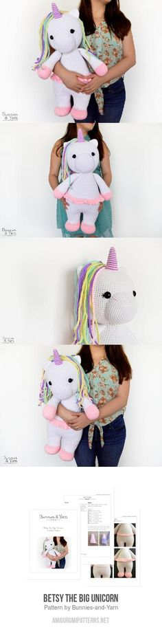 Betsy The Big Unicorn Amigurumi Pattern