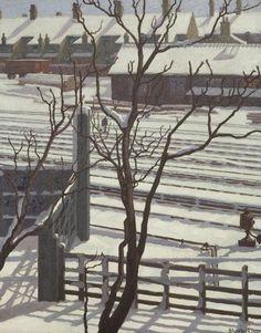 Railway Lines in Snow - Marjorie Sherlock, 1924