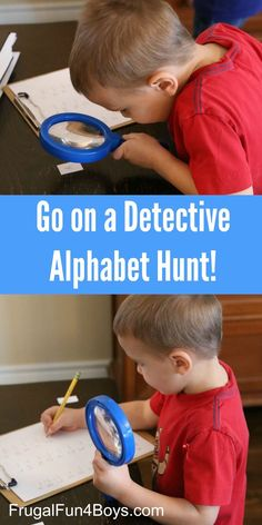 Go on a Detective Alphabet Hunt!  A Letter Learning Activity for Preschoolers