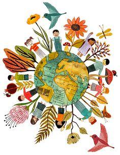Geninne D Zlatkis worldly illustration