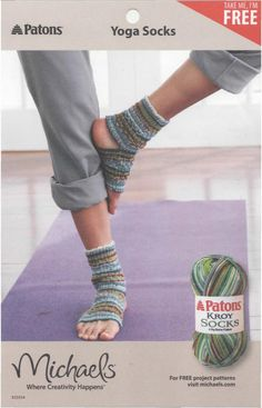Free Crochet Yoga Socks Pattern Knit A Pair Of Yoga Socks Free Knitting Pattern Crafts I Want To Free Crochet Yoga Socks Pattern Yoga Socks Free Knit Pattern Cool Creativities. Loom Knitting, Knitting Socks, Knitting Patterns Free, Knit Patterns, Free Knitting, Free Pattern, Yarn Projects, Knitting Projects, Crochet Projects