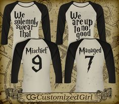 Solemnly Swear Matching Best Friend Shirts