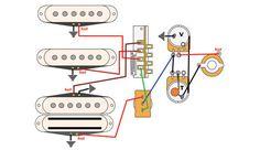 standard stratocaster wiring diagram electronics in 2019 guitar electric guitar lessons. Black Bedroom Furniture Sets. Home Design Ideas
