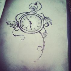 Pocket watch tattoo ;)