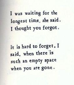 Wenn etwas fehlt...Das Nichts ersetzen kann, dann ist es Liebe....