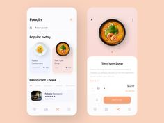 Food Service - Mobile App by Alexander L.🔥 on Dribbble Design Android, App Ui Design, Interface Design, Design Design, Flat Design, Design Thinking, Motion Design, Ui Design Mobile, Delivery App