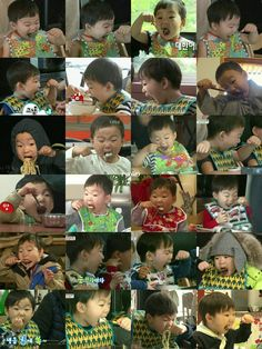 mukbang faces of Superman Kids, Song Daehan, Song Triplets, Reborn Toddler, Color Theory, Little Darlings, My Children, Traditional Art, Never Give Up