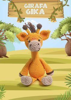 Girafa Amigurumi - Receita (com imagens)   Amigurumi de animais de ...   334x236