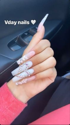 Acrylic Nails Coffin Pink, Long Square Acrylic Nails, Summer Acrylic Nails, Coffin Acrylics, Coffin Nails, Bling Nails, Swag Nails, Drip Nails, Glow Nails