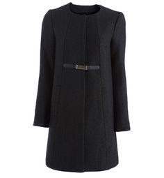 Manteau femme tweed enduit