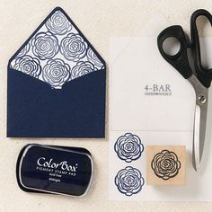 Use stamps to make liners - Before You DIY Wedding Invitations, Here are 8 Tools You Might Need