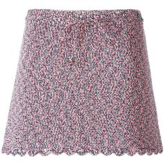 Chanel Vintage Knit Mini Skirt (£810) ❤ liked on Polyvore featuring skirts, mini skirts, vintage skirts, knit mini skirt, purple mini skirt, short skirts and short knit skirt