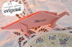Marque place origami...et si on en trouvait un de facile ?