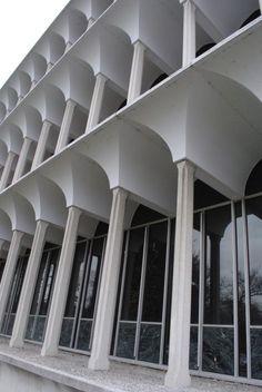 Fragments - Minoru Yamasaki. Irwin Library, Butler University....